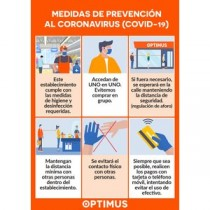 CARTEL A3 PARA CRISTAL PREVENCION COVID-19 OPTIMUS