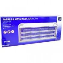 PARRILLA INSECTOS 2 TUBOS 20W BLANCA